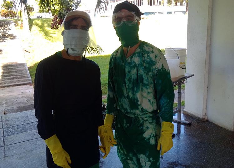 El trabajo en Zona Roja de estos jóvenes se torna difícil en tiempos aún de complejidad epidemiológica para la provincia Pinar del Río